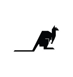 kangaroo black icon vector image