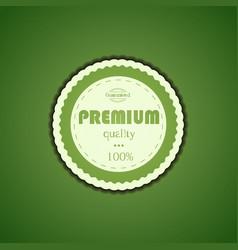 Premium Quality Assurance Sticker vector image