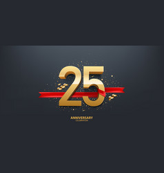 25th year anniversary background vector