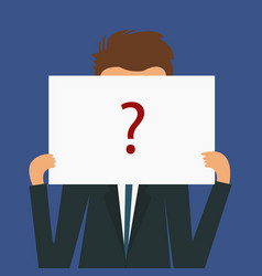 anonymous man with red question mark not vector image