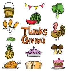 Art thanksgiving on doodles vector