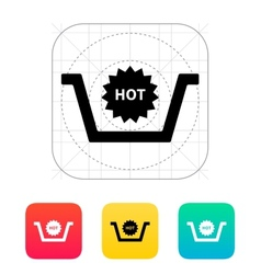 Basket with hot product icon vector image