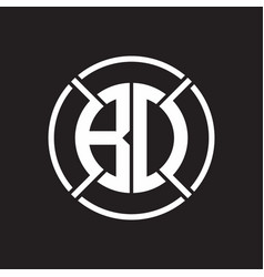 bd logo monogram with four part circle slash vector image