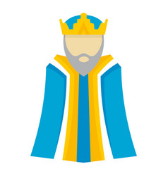biblical king icon flat style vector image