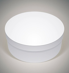 blank round box template for your package design vector image