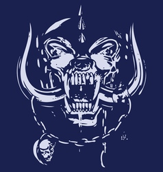 blue and gray skull vector image vector image