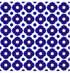 blue and white flower pattern 1 vector image