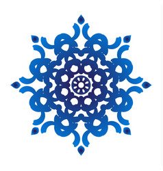 blue floral ornamental vector image