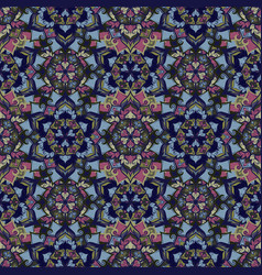 boho flower pattern vector image