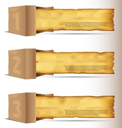 Box with old paper vector