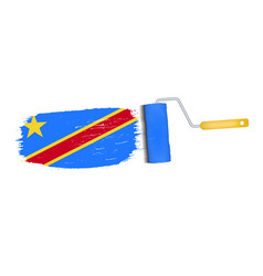 brush stroke with democratic republic of the congo vector image