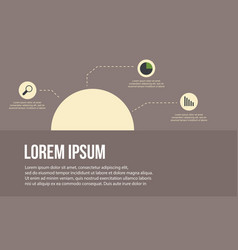 Business infographic label design vector