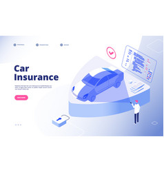 car insurance concept damaged crash fire flood vector image