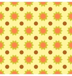 Circle and flower seamless pattern vector