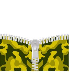 Clasp on camouflage vector