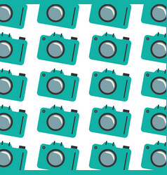 Colorful pattern with analog camera vector