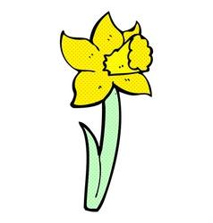 Comic cartoon daffodil vector