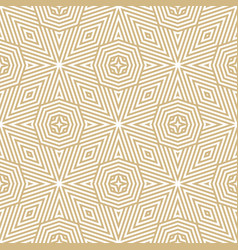 creative golden lines seamless pattern with vector image