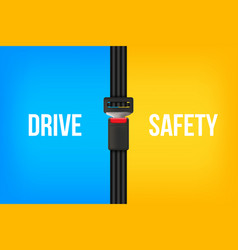 Creative of safety seat belt vector