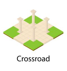 crossroad icon isometric style vector image
