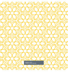 cute yellow flower pattern on white background vector image