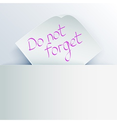 Do not forget vector image