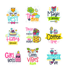 Doodle posters vector