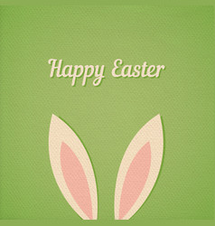 easter bunny ears card vector image