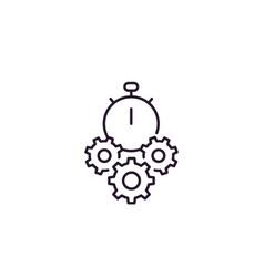 Efficiency icon line vector