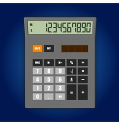electronic calculator vector image