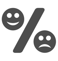 Emotion percent flat icon vector