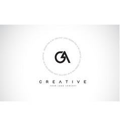 Ga g a logo design with black and white creative vector