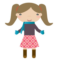 Girl in winter vector