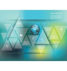 global social media concept vector image