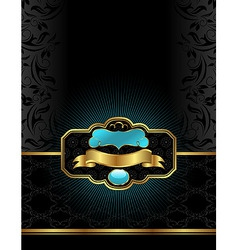golden luxury vector image