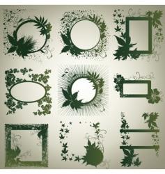 Grunge frames with autumn vector