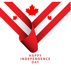 Happy canada independence day template design vector