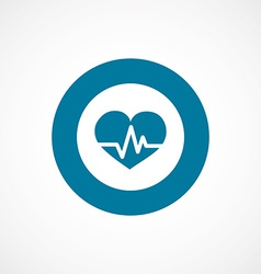 heart pulse bold blue border circle icon vector image