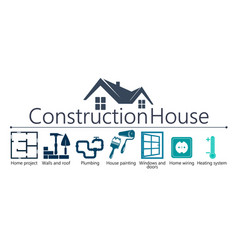 house construction symbol vector image