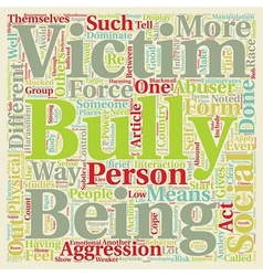 How To Cope With Bullies text background wordcloud vector