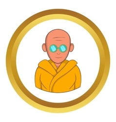 Indian monk in sunglasses icon vector image