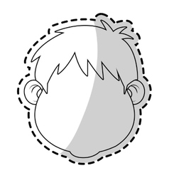 Isolated boy design vector