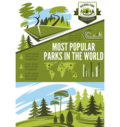 Landscape architecture or horticulture infographic vector
