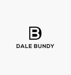 letter db logo bd logo icon template vector image