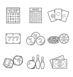 Lottery icon set vector image