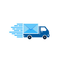 mail delivery logo icon design vector image