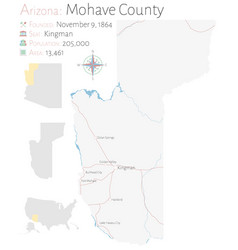 Map mohave county in arizona vector