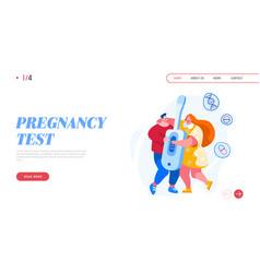 maternity fatherhood landing page template tiny vector image