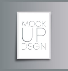 mockup background for the banner flyer poster vector image