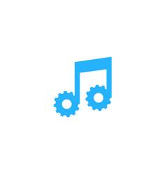 music gear logo icon design vector image